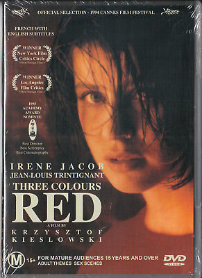 Three Colours Red Dvd=French Language=Region 4 Australian Release=New And Sealed