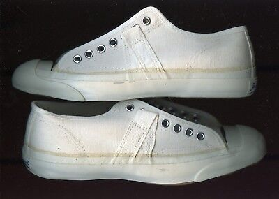 """1970s CONVERSE """"JACK PURCELL"""":  mens white ox: (size 5M): UNWORN"""