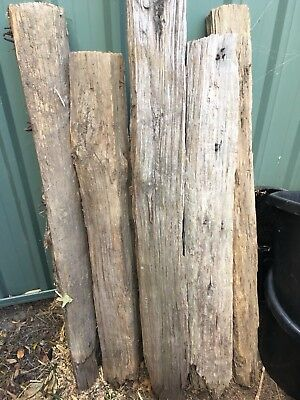 Antique Rustic Old Farm Wood Fence Posts X 7
