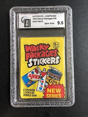 1979 Topps Wacky Packages 2nd Series UNOPENED PACK GAI 9.5 GEM MINT