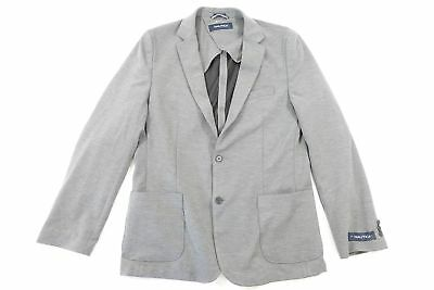 Nautica Gray Large Woven Blazer Sport Coat Jacket Mens New