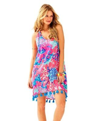 714593fd46b107 Lilly Pulitzer Roxi Swing Dress Coral Reef I'm So Jelly Size Small, ...