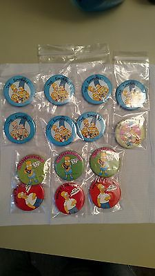 Ts1 1989 Simpsons buttons/pins. Never worn.