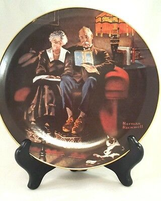 Light Campaign Series Plate Norman Rockwell Evening's Ease collectors item USA