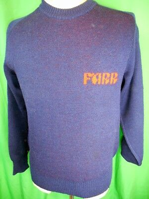 Vintage 1980s Blue Pure Wool Hy-Sport Farr Winery Australia Ski Jumper Sweater S