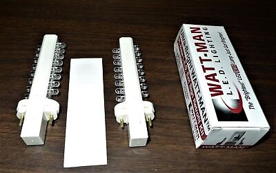 WATT-MAN PL Base LED Exit Sign Retrofit Kits 12 (24 bulbs) 120V,  UBW120PKT