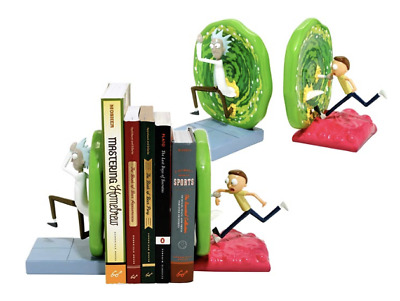 Rick & Morty Official TV Show Bookend Set Portals Book Exclusive Limited