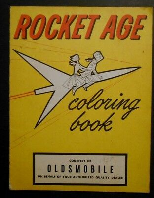 1958 Oldsmobile Rocket Age Coloring Book Jerry Lewis Patti Page RARE!!