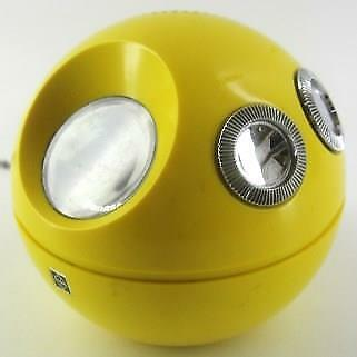 vintage YELLOW Panasonic R-70 PANAPET ball AM transistor RADIO