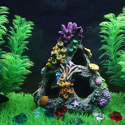 FX- Rockery Artificial Coral Hill Fish Tortoise Tank Aquarium Landscape Ornament