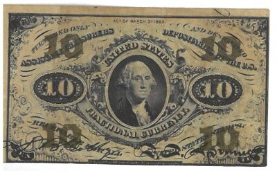 1863 TEN CENT FRACTIONAL CURRENCY NOTE **3rd ISSUE** FREE SHIPPING!