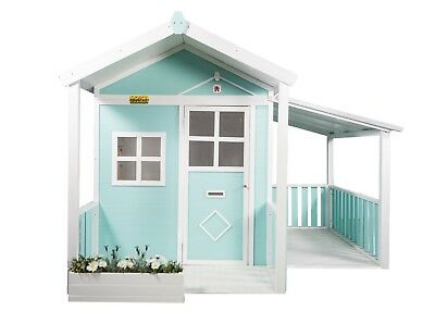 Kids Outdoor Wooden Timber Cubby House Pretend Play Flatpack Millie