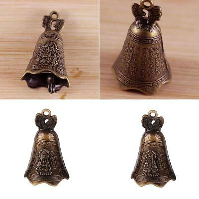China's Mini Brass Copper Sculpture Pray Buddha Feng shui bell 48*30mm