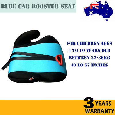 Blue Safe Sturdy Baby Kid Children Car Booster Seat Pad For 4-10 Year 22-36kg AU