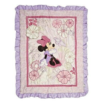 Disney Minnie Mouse Butterfly Dreams Stroller Or Crib Applique (Comforter Only)