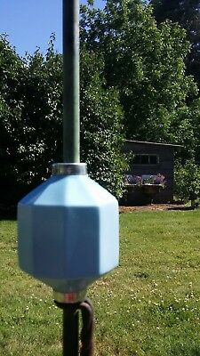 Light Blue Glass 10 Panel Lightning Rod Ball