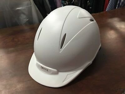 Onyx Horse Riding Helmet, White, Size 55cm *NEW WITH TAGS*