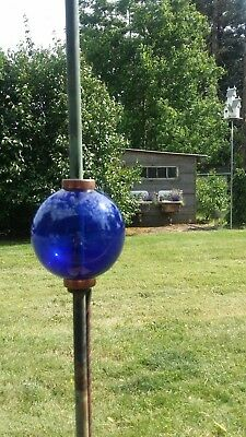 Plain Smooth Round Large Cobalt Blue Glass Lightning Rod Ball