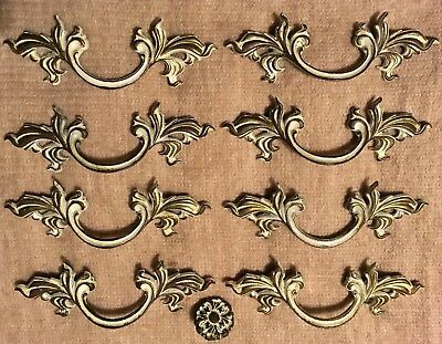 "8 Vintage French Provincial Drawer Pull Hardware 3"" Centers"