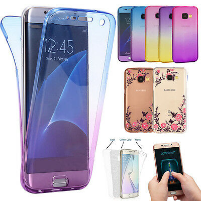 360° Case For Samsung A3 A5 2017 Shockproof Silicone TPU Protective Clear Cover