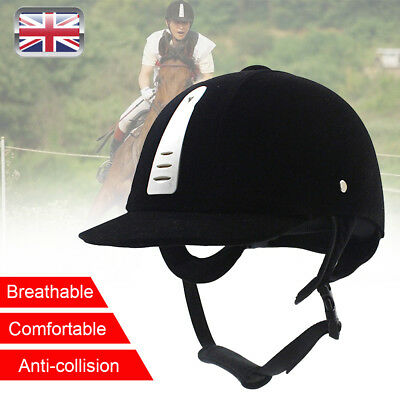 Horse Riding Hat/Helmet Black cap safety All Sizes 54/56/58/60/62cm UK stock