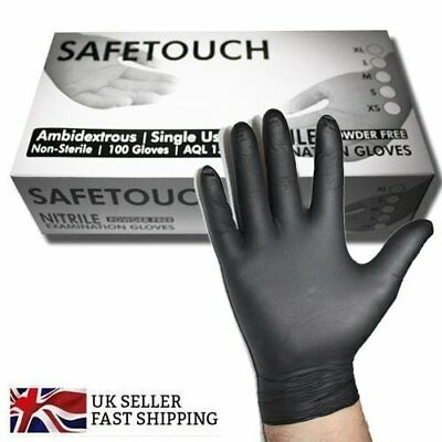 Black Nitrile Gloves Powder Free Heavy Duty Black Nitrile