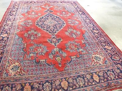 "Antique Persian Rug Wool Hand Knotted Tabriz  325cm x 228cm apprx 10'8"" X 7'6"""