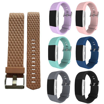 7 pack Large Replacement Silicone Wristbands For Fitbit Charge 2 Bands Strap