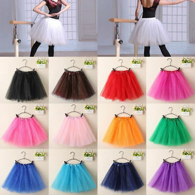 Jennis Women's Adult Dancewear Tutu Mini Ballet Pettiskirt Princess Party Skirt