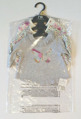 Mothercare Baby Girls' Tops Newborn 7.5lbs Pack of Three BNWT