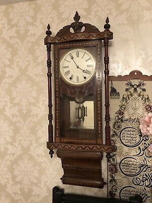 vintage wall clock wooden