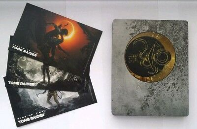 PS4 Shadow of the Tomb Raider Steelbook + 3 Art Cards NEW & SEALED