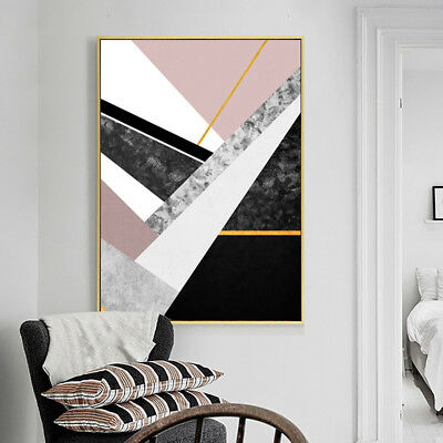 Nordic Geometric Marble Painting Decorative Home Wall Art Decor Posters Latest