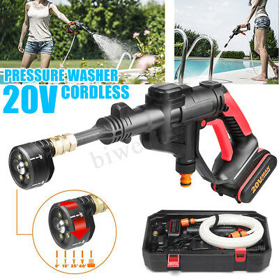 20V Cordless Hydro Shot Portable Pressure Cleaner Car Portable Water Gun