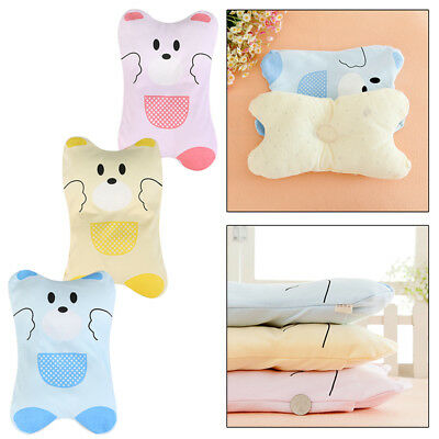 Baby Cot Pillow Infant Prevent Flat Head Cushion Sleeping Neck Support Cotton