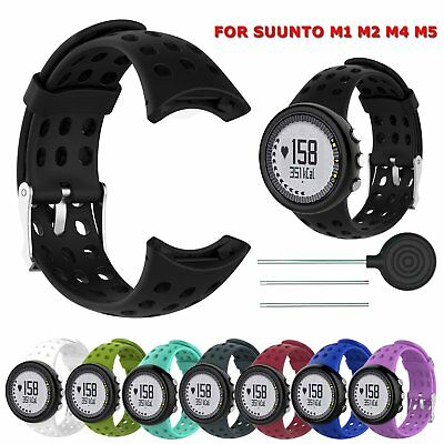 New Silicone Sport Strap Replacement Band For SUUNTO M1 M2 M4 M5 M Series Watch