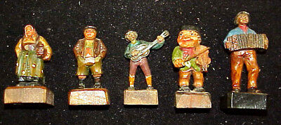 Vintage Hand Carved & Painted Wooden Figurines Made in ITALY (5)