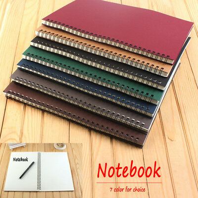 Medium A5 Dotted Grid Spiral Notebook Journal Cardboard Soft Cover 120 Pages