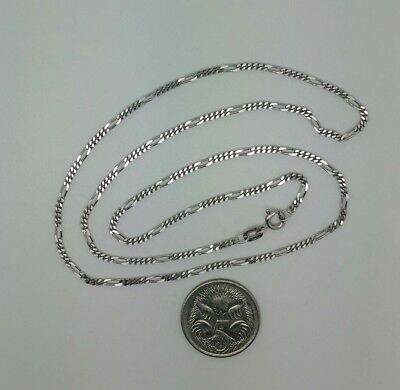 9ct Solid White Gold Chain, 45cm, Made in Italy