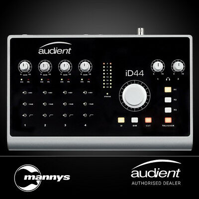 Audient iD44 20-In/24-Out High Performance Audio Interface & Monitor Controller