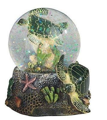 StealStreet Marine Life Snow Globe with Sea Turtle Statue Figurine, 3.75""