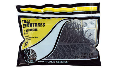 Woodland Scenics TR 1123 Deciduous Tree Armatures 5-7 Inch (12) Build Your Own!