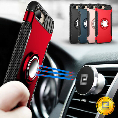 For iPhone X 7 8 Plus Slim Magnetic Shockproof Rugged Hybrid Phone Case Cover