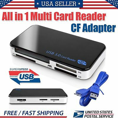 All in 1 USB 3.0 Multi SD Card Reader Micro Compact Flash CF Adapter MS XD 5GBPS