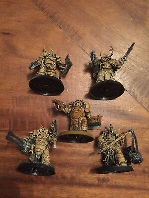 Warhammer 40k Chaos Space Marines Death Guard Army Blightlord Terminators X5 !!!