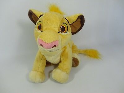 RARE Disney Store Simba Soft Plush Toy - The Lion King Big Cat Large Young