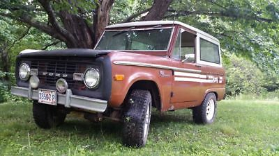 1973 Ford Bronco  1973 ford bronco barn find, 27 years in storage