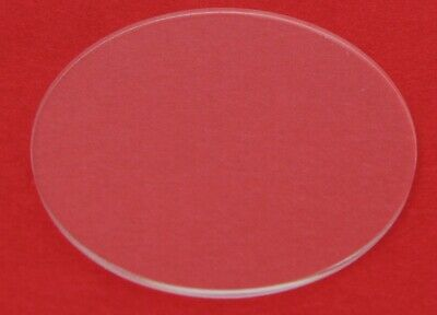 """1.5"""" Diameter Clear Laser Cut Acrylic Circle 1/8"""" thick"""