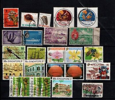 Singapore 1949 onwards selection Used 23 stamps