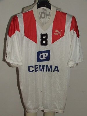 SOCCER JERSEY TRIKOT CAMISETA MAILLOT SPORT MATCH WORN MULHOUSE n °8